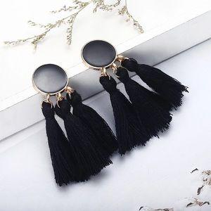 Bohemian Tassel Earrings. Black